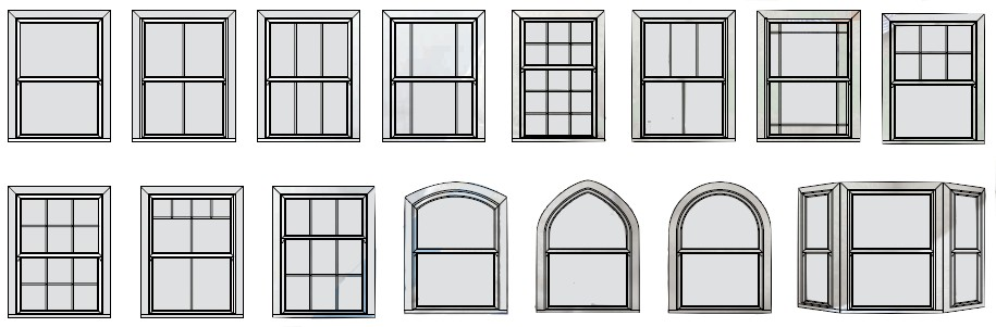 ECOSlide box sash window styles and shapes
