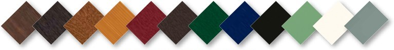 Just some of the wide range of smooth colours and woodgrain foils now available