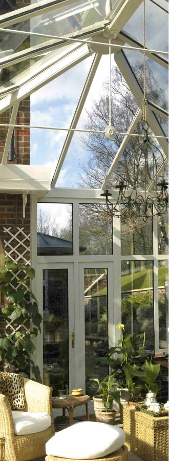 Classic style conservatory with hipped roof